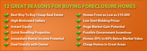 12 GREAT reasons FOR buying foreclosure homes
